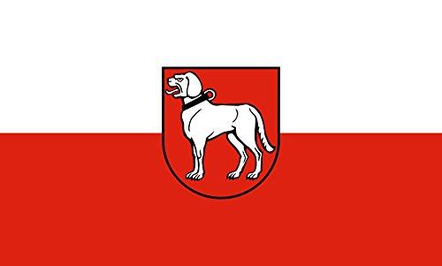 Unbekannt magFlags Tisch-Fahne/Tisch-Flagge: Brackenheim 15x25cm inkl. Tisch-Ständer