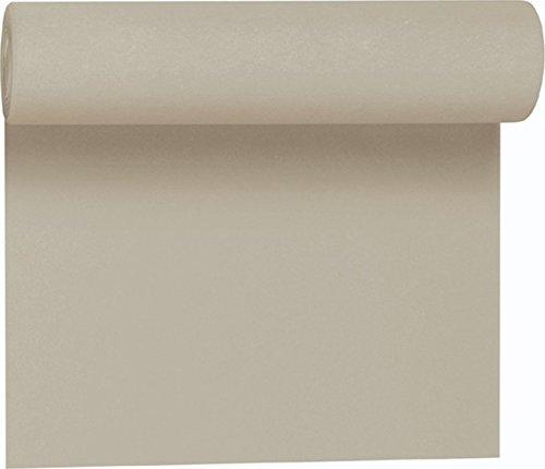 Duni Tête-à-Tête-Tischläufer aus Dunicel alle 120 cm perforiert, Uni greige, 40 x 2400 cm