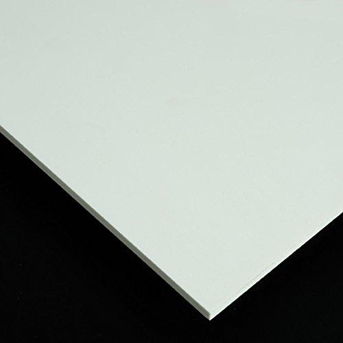 PVC Espumado Plancha Medidas 50cm x 100cm Grueso 3mm Color blanco