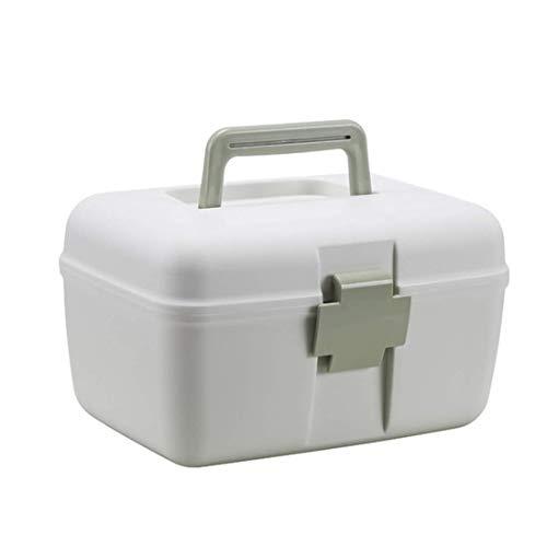 YLLN thuisapotheek doos, 2 niveaus medicijnkastje XXL draagbare medicijndoos huisapotheek EHBO-doos huisapotheek opslag groen