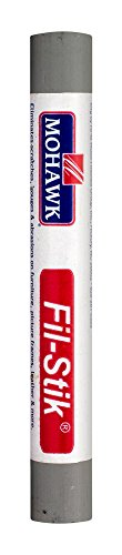 Mohawk Fill Stick (Fil-Stik) Putty Stick for Wood Repair (Platinum Grey)- Rub On Semi-Soft Wax Filler Stick