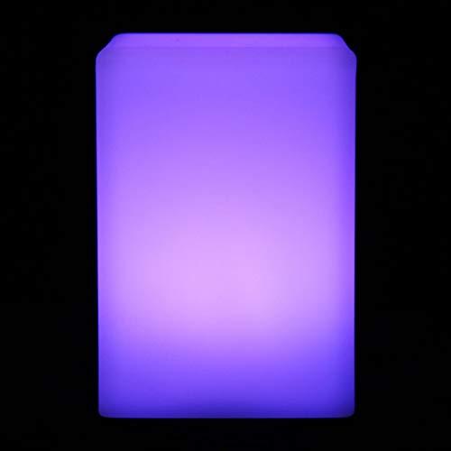 Okuyonic Lámpara de Mesa LED Luz de Escritorio Decoración Luz de Escritorio Buena decoración Cuadrado Aspecto Hermoso para Dormitorio(Square Battery)