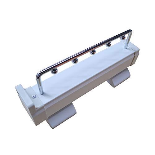 GSKB utdragbar klädhängare skena skjuthängare organiseringshylla längd 307/460 mm toppmontering lastkapacitet 30 kg för djup 320/500 mm skåp paket med 1