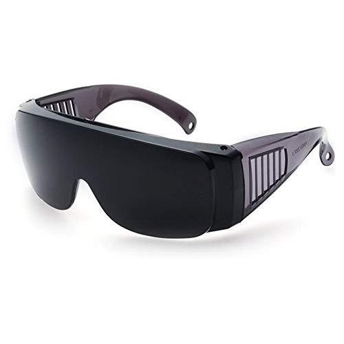 YUELANG Schutzbrille Anti Laser Infrarot-Schutzbrille PC-Linsen Anti-Fog Anti-UV Anti-Impact Arbeitsschutzbrille (Color : Black)
