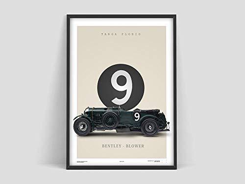 Cartel soplador, coches clásicos, impresión Bentley, impresión de coches de época, automoción retro, Bentley vintage, lienzo sin marco D 30x45cm
