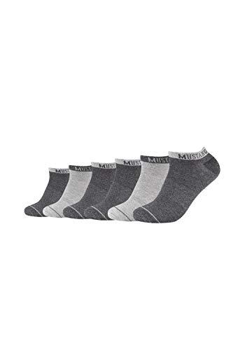 MUSTANG Herren Sneakersocken 6er-Pack mit weichem Komfortbund dark grey mix, 43-46