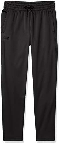 Under Armour Herren Armour Fleece lose anliegende Jogginghose, leichte und atmungsaktive Sporthose, Black / / Black (001), LG