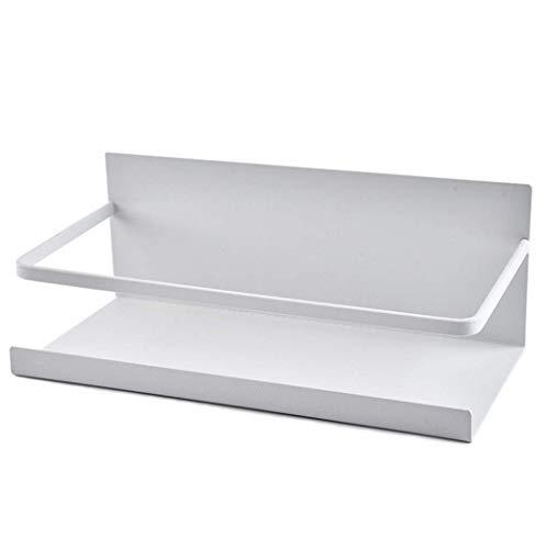 Lotsa Style Estante magnético para almacenamiento de especias organizador de pared para frigorífico, lavadora de secadora para cocina, lavandería (blanco)