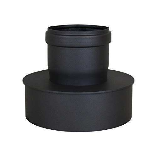 LANZZZAS pellepijp uitbreiding van Ø 80 mm naar Ø 150 mm in grijs pelletpijp pelletkachel pelletkachelpijp kachelpijp
