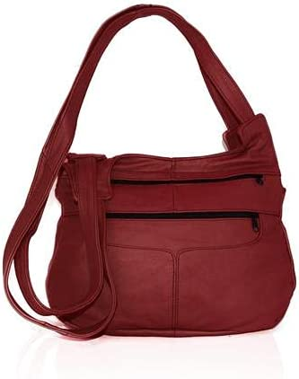 Fin Stores Leather Hobo Bag (Red)