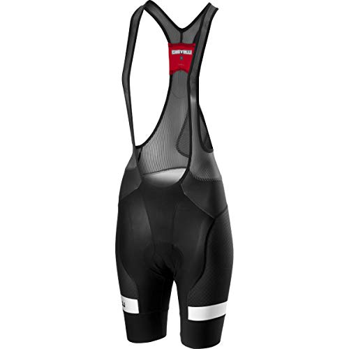 CASTELLI Free Aero Race 4 W BIBSHORT Pantalones Cortos, Black/White, M para Mujer