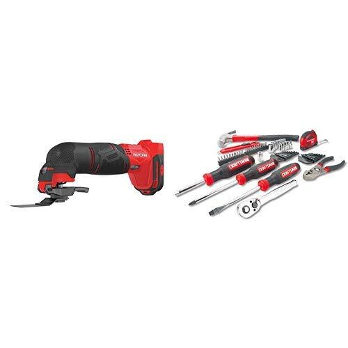 Big Save! CRAFTSMAN V20 Oscillating Tool Cordless, Tool Only with Mechanics Tools Kit/Socket Set, 57...