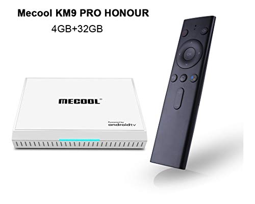MECOOL KM9PRO Honour - Box Android TV con certificazione di Google, Streaming 4 K, Bluetooth Wi-fi, assistente di Google con Chromecast e 4 GB di RAM 32 GB di ROM, HDMI HDR