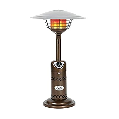 BALI OUTDOORS Patio Heater Gas Portable Tabletop Heater Propane Patio Heaters, Outdoor Table Top Heater W/Adjustable Thermostat, Suitable for Yard, Commercial Restaurant, Gazebo