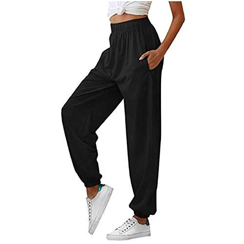 Pantalones De Jogging De Cintura Alta Pantalones De Chándal De Gimnasio Para Mujer Pantalones De Jogging Holgados Casuales Pantalones Deportivos Pantalones De Ocio Ligeros Y Cómodos Para Mujer