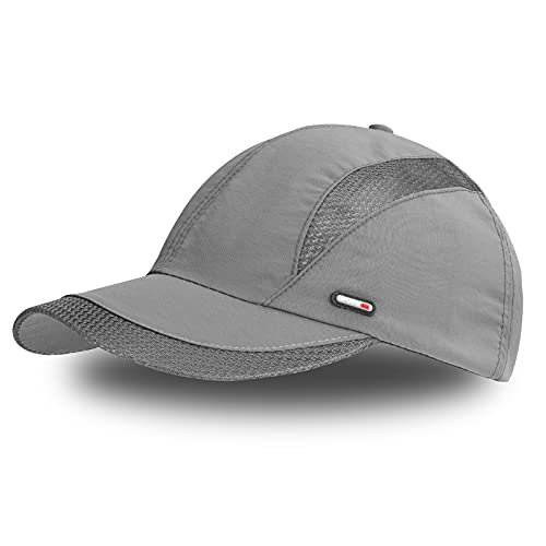 FSFTTRAD Hat for Men Sports Cap Sun Hat Soft Quick Drying Breathable Mesh Baseball Cap Outdoor Cap Polyester Fiber for Unisex(Adjustable Approx 20.5 to23.2inch)