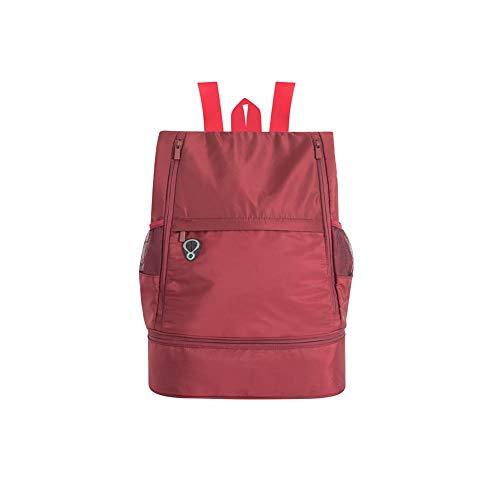 GEEKEN L?Ssige Leichte Sporttasche mit Gro?Er Kapazit?T Sporttasche für M?Nner und Frauen Reiserucksack Rot