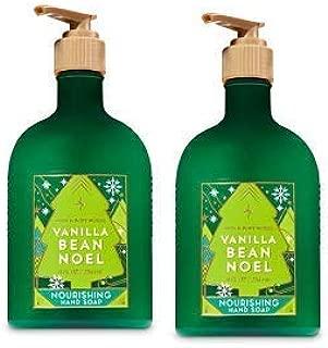 Bath and Body Works 2 Pack Vanilla Bean Noel Nourishing Hand Soap. 8 Oz.