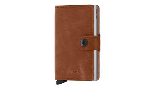 Secrid Miniwallet portemonnee Vintage Cognac Silver   Brown