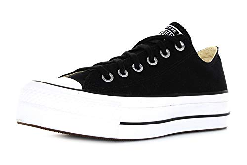 Converse Chuck Taylor All Star Lift Ox Negro/Blanco Tela 36 EU
