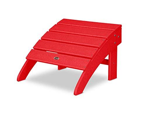 CASA BRUNO South Beach II Adirondack Schaukelstuhl, aus recyceltem Polywood® HDPE Kunststoff, sunset red - kompromisslos wetterfest