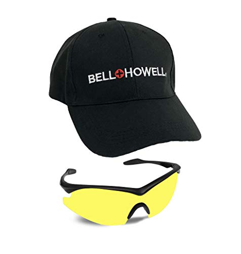 Bell + Howell NIGHT VISION GLASSES with Cap, Anti-Glare and Polarized Sports Googles For Clearer Vision, Military Inspired Eyewear Protection For Both Men and Women As Seen On TV