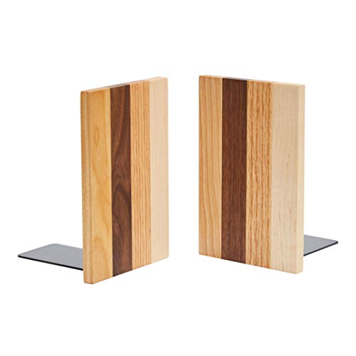Pandapark木製本立て、ビッグシックタイプ、W10XH15XD11cm、一ペア入り(AmericanDream)