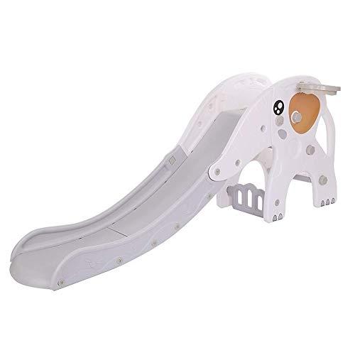 Kids Freestanding Slide |Interior al aire libre escalera de la diapositiva con el aro de baloncesto, robusto del juego de niños del niño deslizando el juguete del juguete del juguete para los juegos e