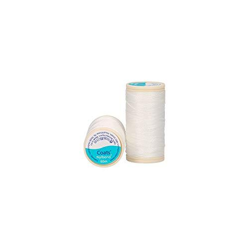 Jassen Nylbond Naaien & Kralen draad (Bonded Nylon) Voor jeans, leer, elastische stoffen & sieraden maken - Off White 1006