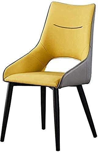 IG Sillas Creativo Salón Comedor Hogar Moderno Respaldo Alto Asiento de Imitación de Cuero | Negociación Oficina de Ocio de Moda