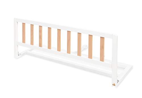 Pinolino 172487 - Barrera protectora para cama 'Classic', color blanco/natural, blanco, 1 unidad