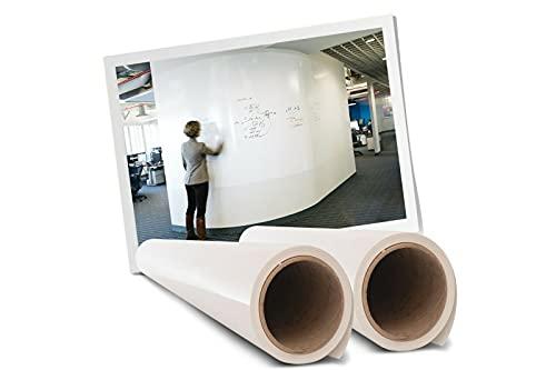 Premium Bubble Free No Ghosting Self-Adhesive Peel Stick Whiteboard Wallpaper / Wall Sticker - 48'x 72'