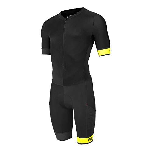 FUSION SpeedSuit Trisuit - Triathlon Einteiler - Unisex Black/Yellow M