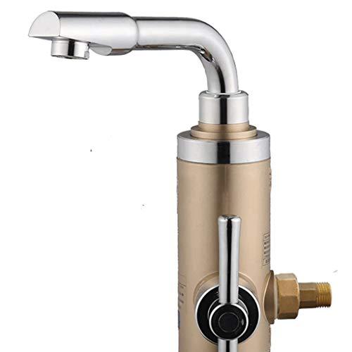 XJJZS Grifo Grifo eléctrico está Caliente Agua del Grifo de calefacción del Calentador de Agua rápido Agua Caliente Cocina Casa del Tesoro Color: Oro