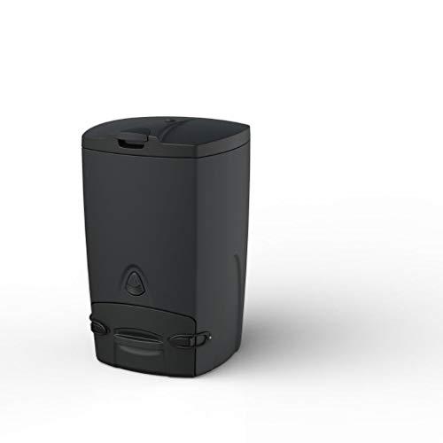 Biolan Composteur thermique léger avec couvercle isolé pour déchets de cuisine compostables et autres déchets biologiques – 200 L, noir
