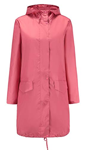 hjkg Impermeable Mujer Pink Fashion Rain Coat Ladies Long Portable Water-Repellent Windbreaker Chaqueta Impermeable Ligera Y Transpirable Mujeres Hombres Damas Unisex, XXL
