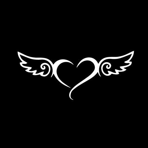 JKGHK Calcomanías creativas para parabrisas trasero con diseño de alas de ángel, 6,9 x 16,5 cm