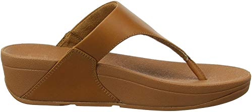 Fitflop Damen Lulu Toe Post - Leather Sandalen, Braun (Caramel 098), 38 EU