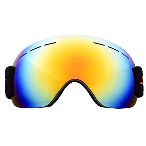 N\A Gafas de esquí para deportes al aire libre con doble capa antivaho, gafas de esquí grandes, para hombre o mujer, gafas de snowboard (color: rojo)