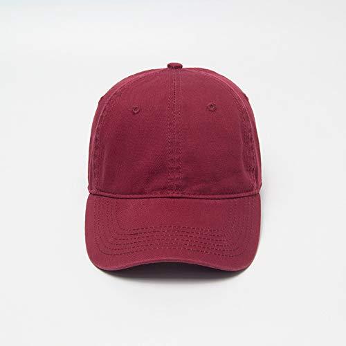 Sombrero Biao Lavado algodón Color sólido Tablero Ligero Gorra de béisbol Vieja Tapa en Blanco Rojo Ajustable