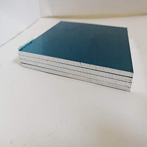 Geeyu ZHaonan-Placa metálica Placa de Aluminio 3/4/5/6 / 8mm Hoja de Aluminio con película Protectora 100 * 100 mm 200 * 200mm, Toma de Tierra (Color : 4x200x300mm 1pcs)