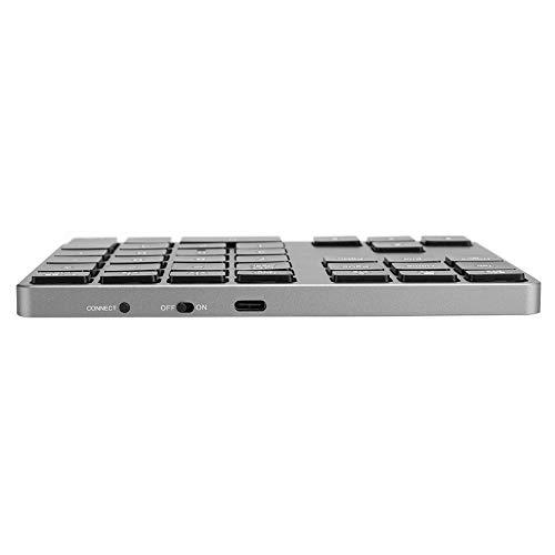 Mini teclado, teclado Bluetooth Mini teclado Teclado ligero y conveniente para sistemas Windows/Android/Windows 10