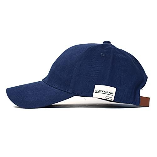 Gorra de béisbol Moda Casual Gorra Vintage Color sólido Gorra de algodón Hombres Mujeres Gorra de Deporte al Aire Libre Sombrero de Camionero Sombrero de papá Ajustable