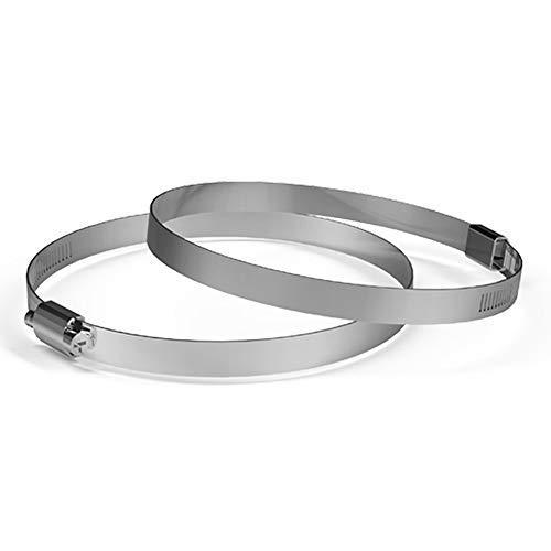 AC Infinity Stainless Steel Duct Clamps, 4-Inch (Pack of 2) for Ducting, Heating, Cooling, Exhaust, Ventilation