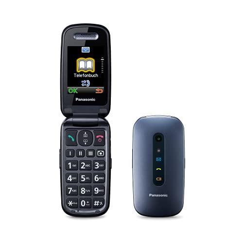"Panasonic KXTU456, Teléfono Móvil para Mayores (Pantalla Color TFT 2.4"", Botón SOS, Compatibilidad Audífonos, Resistente a Golpes, Bluetooth, Cámara), Bluetooth 3.0, Linux, Azul"