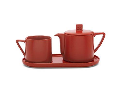 Bredemeijer Tea-for-one Set Lund, rot, Keramik, 14 x 30 x 11.9 cm