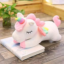 Dehcye 40-80cm Fantasy Girls Unicorn Toy Huggable Kids Pink/White Unicorn Animals Doll Stuffed Running Unicorn Toy Decor Plushie Toy 40cmdoll White