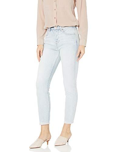 7 For All Mankind Womens Josefina Boyfriend Mid Rise Jeans, Cloud, 34