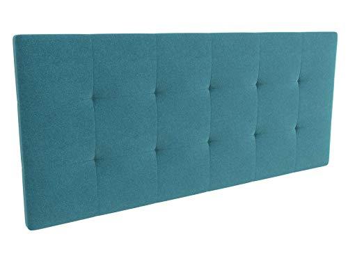 LA WEB DEL COLCHON - Cabecero tapizado Celio para Cama de 150 (160 x 70 cms) Turquesa Textil Suave