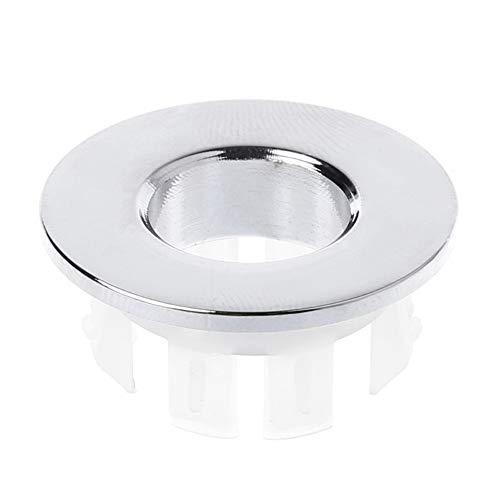 WLKK Grifo del lavabo del baño Fregadero Cubierta de rebose Reemplazo de inserto de anillo de seis pies de latón
